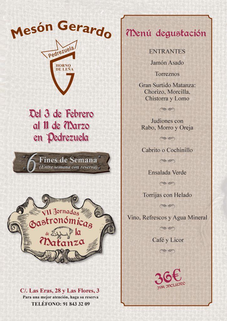 Jornadas Gastronómicas de la matanza en Pedrezuela